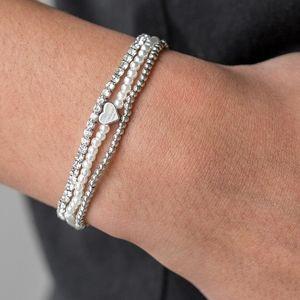 Cuter Than Cupid Bracelet-White